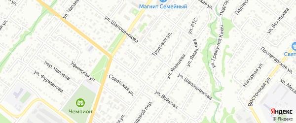 Трудовая улица на карте Белебея с номерами домов