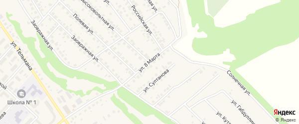 Улица 8 Марта на карте села Кандры с номерами домов