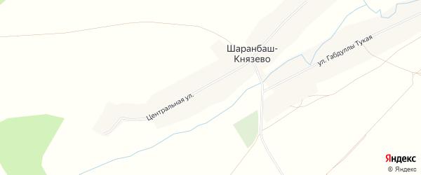 Карта села Шаранбаш-Князево в Башкортостане с улицами и номерами домов