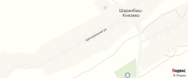 Центральная улица на карте села Шаранбаш-Князево с номерами домов