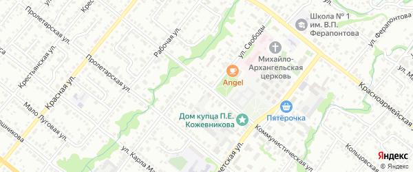 Коммунистическая улица на карте Белебея с номерами домов