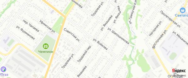 Улица им Х.Ямашева на карте Белебея с номерами домов