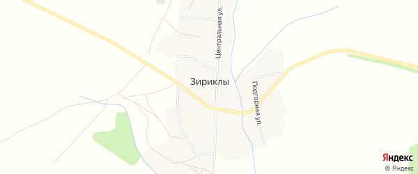 Карта села Зириклы в Башкортостане с улицами и номерами домов