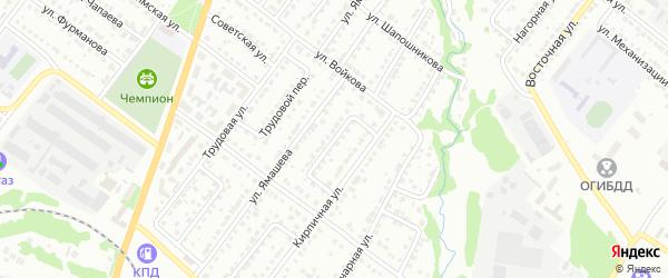 Кирпичный переулок на карте Белебея с номерами домов