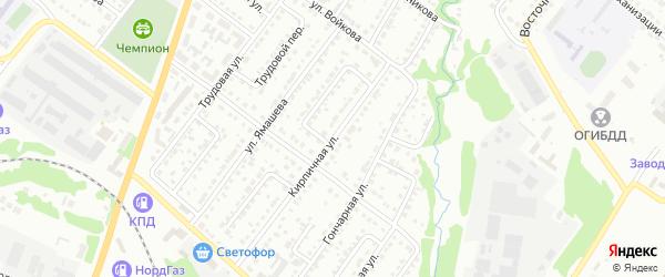 Кирпичная улица на карте Белебея с номерами домов