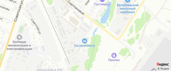 Улица Нефтебаза на карте Белебея с номерами домов