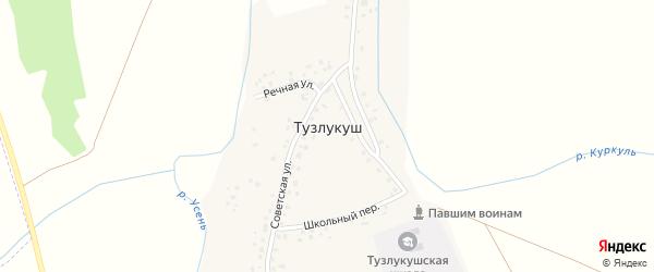 Речная улица на карте села Тузлукуша с номерами домов