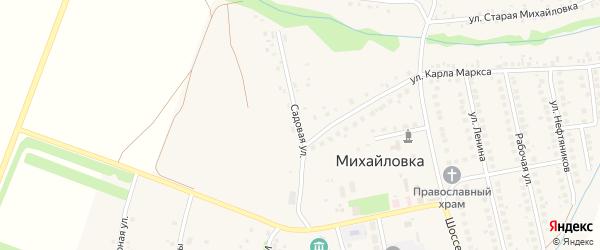 Садовая улица на карте села Михайловки с номерами домов