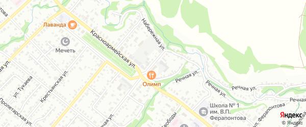 Улица Иванова на карте Белебея с номерами домов