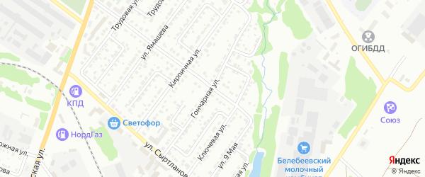 Гончарная улица на карте Белебея с номерами домов