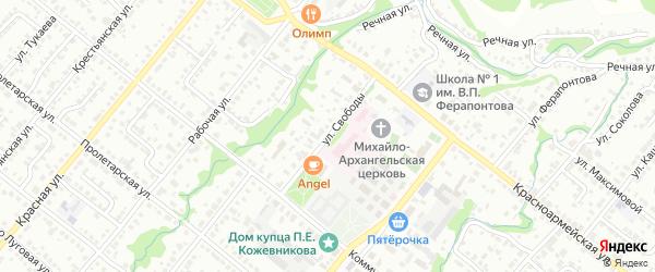Улица Свободы на карте Белебея с номерами домов