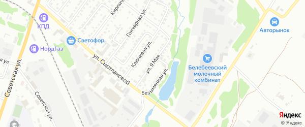 9 Мая улица на карте Белебея с номерами домов