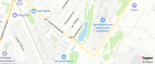 Безымянная улица на карте Белебея с номерами домов