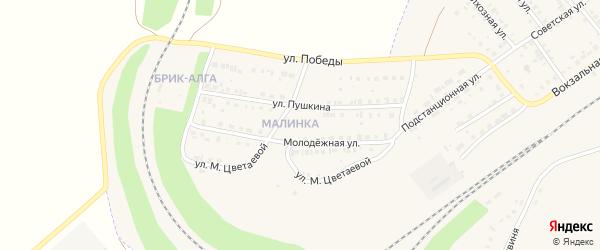 Молодежная улица на карте села Аксаково с номерами домов