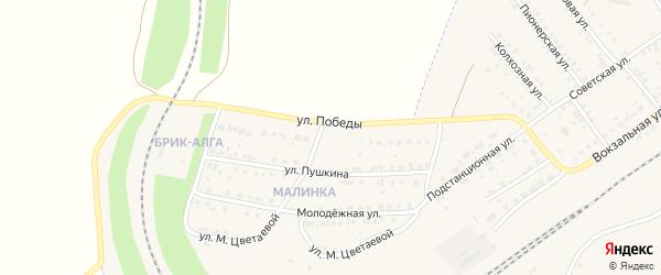 Улица Победы на карте села Аксаково с номерами домов