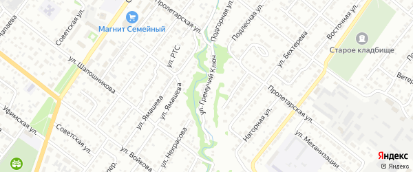 Улица Гремучий Ключ на карте Белебея с номерами домов