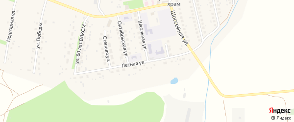Лесная улица на карте села Михайловки с номерами домов