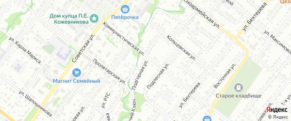 Подгорная улица на карте Белебея с номерами домов