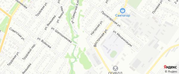 Аэродромная улица на карте Белебея с номерами домов