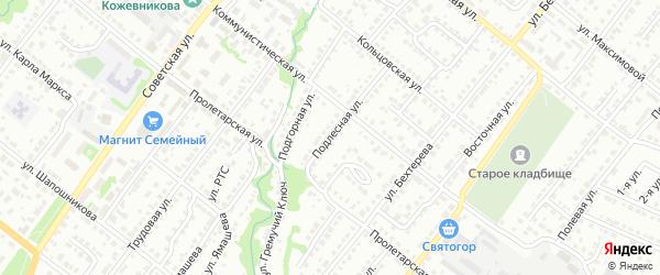 Подлесная улица на карте Белебея с номерами домов
