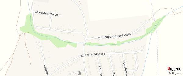 Улица Старая Михайловка на карте села Михайловки с номерами домов