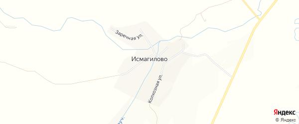 Карта деревни Исмагилово в Башкортостане с улицами и номерами домов