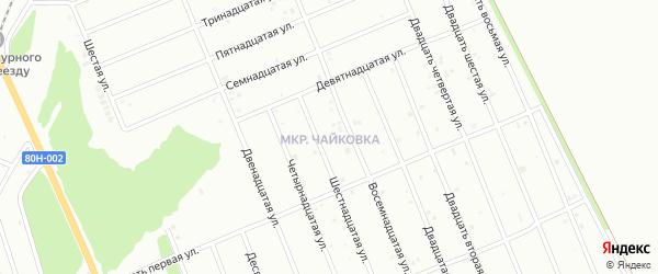 Двадцать седьмая улица на карте района Чайковки микрорайона с номерами домов