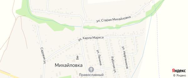 Улица Карла-Маркса на карте села Михайловки с номерами домов
