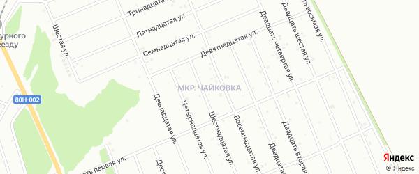 Двадцать шестая улица на карте района Чайковки микрорайона с номерами домов