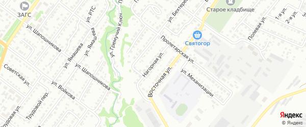Нагорная улица на карте Белебея с номерами домов