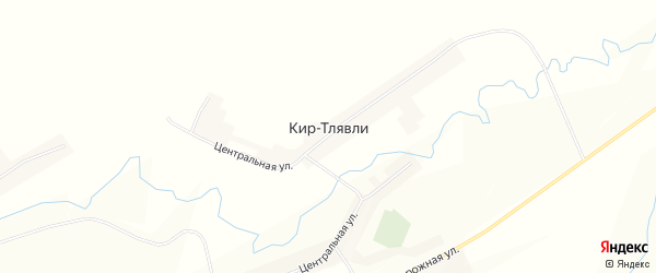 Карта села Кира-Тлявли в Башкортостане с улицами и номерами домов