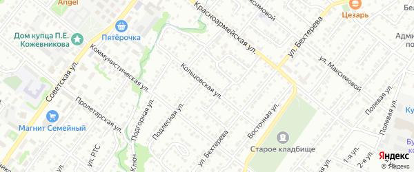 Кольцовская улица на карте Белебея с номерами домов