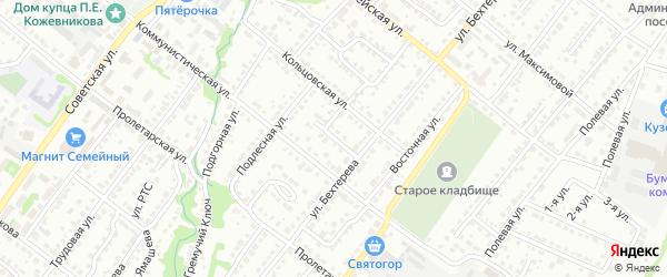 Кольцовский переулок на карте Белебея с номерами домов