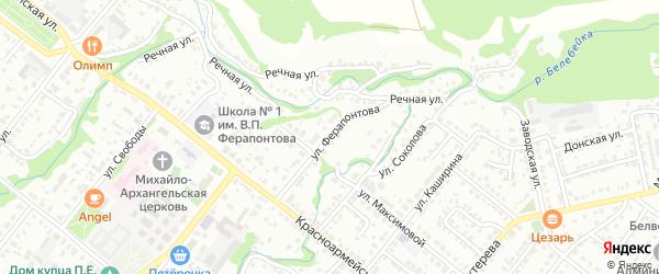 Улица Ферапонтова на карте Белебея с номерами домов