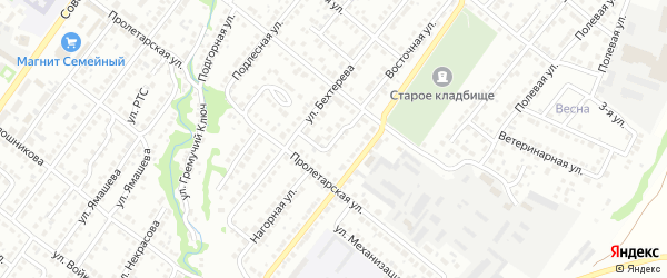 Нагорный переулок на карте Белебея с номерами домов