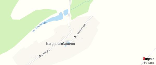 Восточная улица на карте деревни Кандалакбашево с номерами домов