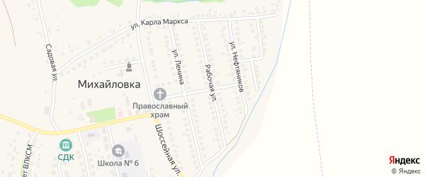 Базарная улица на карте села Михайловки с номерами домов