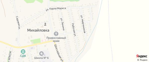 Рабочая улица на карте села Михайловки с номерами домов