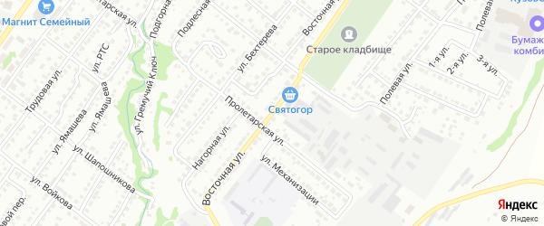 Восточная улица на карте Белебея с номерами домов