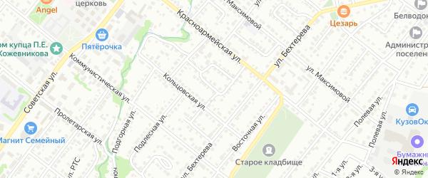 Красноармейский переулок на карте Белебея с номерами домов