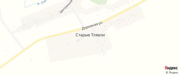 Дорожная улица на карте деревни Старые Тлявли с номерами домов