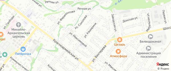 Улица Каширина на карте Белебея с номерами домов
