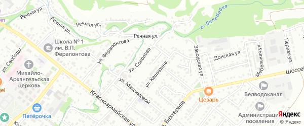 Улица А.Я.Соколова на карте Белебея с номерами домов