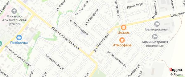 Улица Максимовой на карте Белебея с номерами домов