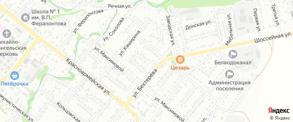 Бехтеревский переулок на карте Белебея с номерами домов