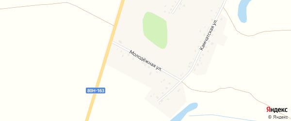Молодежная улица на карте села Каныкаево с номерами домов