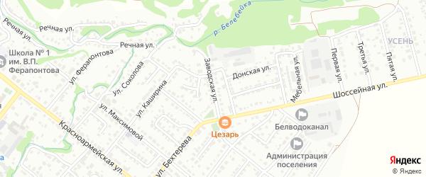 Заводская улица на карте Белебея с номерами домов