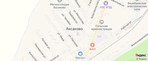 СНТ Елочка на карте села Аксаково с номерами домов