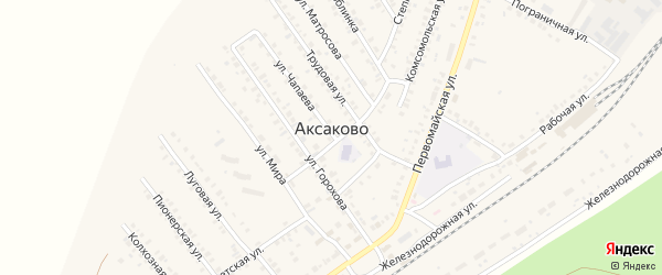 СНТ Клубничка на карте села Аксаково с номерами домов