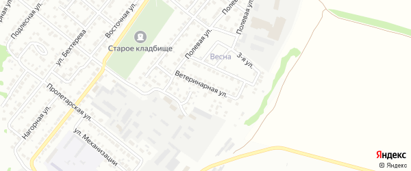 Ветеринарная улица на карте Белебея с номерами домов